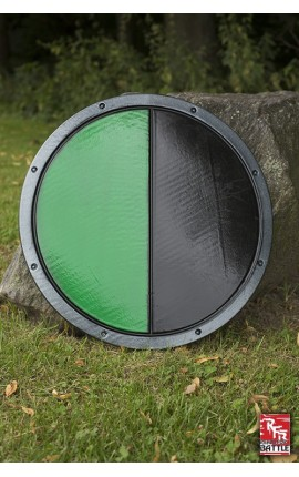 RFB Round Shield - Black - Green Shield Iron Fortress Ready-For-Battle