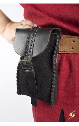 Merchant Suede Bag - Black Iron Fortress Epic Armoury