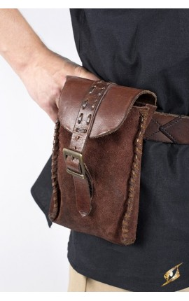 Merchant Suede Bag - Brown Iron Fortress Epic Armoury