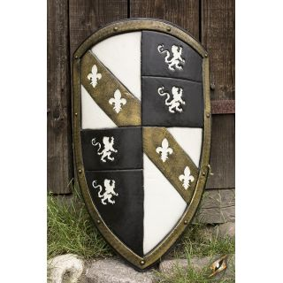 Lion Shield - White/Gold 403014 Iron Fortress