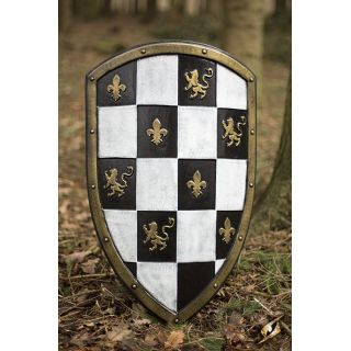 Checkered Shield - White/Gold 403017 Iron Fortress