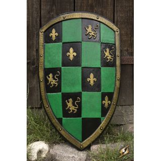 Checkered Shield - Green 403018 Iron Fortress