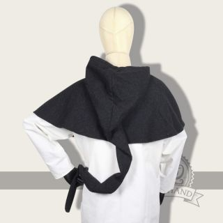 Galanthus hooded Cape wool black Freyhand